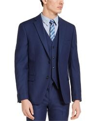 Alfani Slim-fit Stretch Solid Suit Jacket, Created For Macy's - Blue
