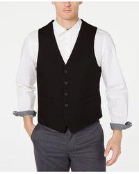 Kenneth Cole Reaction Ready Flex Slim-fit Performance Stretch Suit Vest - Black