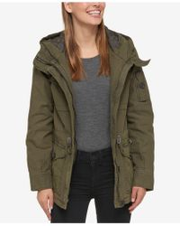 Levi's - Hooded Military Jacket - Lyst