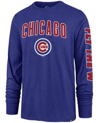 1c828dc2 Mitchell & Ness Chicago Cubs Slub Long Sleeve T-shirt in Natural for ...