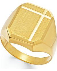 Macy's Men's Polished Ring In 14k Gold - Metallic