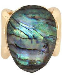 Robert Lee Morris - Gold-tone Abalone Stone Statement Ring - Lyst