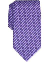 Perry Ellis Nascarella Grid Tie - Purple