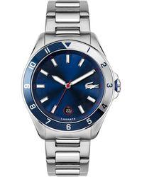 Lacoste Tiebreaker Stainless Steel Bracelet Watch 43mm - Metallic