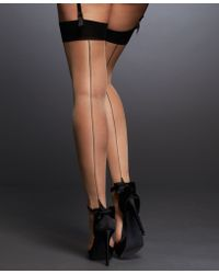 L'Agent by Agent Provocateur Seam & Heel Stocking - Black