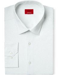 Alfani - Slim-fit White Pindot Print Dress Shirt - Lyst