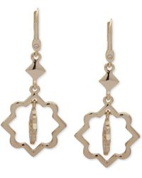 Ivanka Trump - Gold-tone Orbital Drop Earrings - Lyst