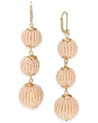INC International Concepts - Beaded Sphere Triple Drop Earrings, Created For Macy's - Lyst