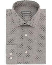 Grey Geoffrey Beene Stretch Mini Grid Suit Jacket