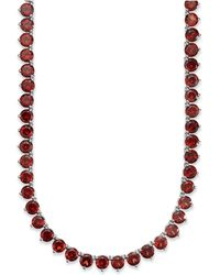 Macy's - Sterling Silver Necklace, Garnet Continuous Necklace (47 Ct. T.w.) - Lyst