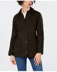 Barbour - Beadnell Waxed Cotton Coat - Lyst