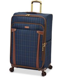 """London Fog Brentwood 29"""" Softside Spinner Suitcase, Created For Macy's - Blue"""