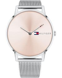 Tommy Hilfiger - Womens Stainless Steel Mesh Bracelet Watch 40mm , Created For Macys - Lyst