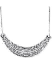 """Wrapped in Love ? Diamond Multi-row 18"""" Collar Necklace (1-1/2 Ct. T.w.) In Sterling Silver, Created For Macy's - Metallic"""