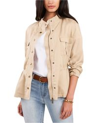 Vince Camuto Stand-collar Jacket - Natural
