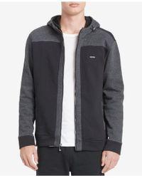 CALVIN KLEIN 205W39NYC - Men's Colorblocked Yarn-dyed Stripe Full-zip Hooded Sweatshirt - Lyst