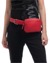 Vince Camuto Self-color Stud Convertible Belt Bag - Red