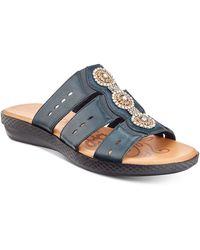 Easy Street Nori Sandals - Blue