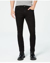 INC International Concepts Inc Men's Moto Stretch Skinny Jeans, Created For Macy's - Black