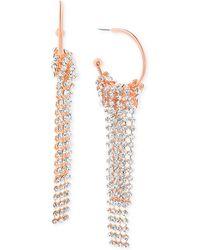 Steve Madden - Crystal Fringe Drop Earrings - Lyst