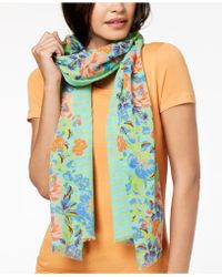 Echo - Floral Trellis Cotton Scarf & Wrap In One - Lyst