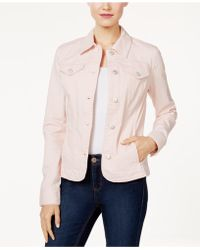 Charter Club Denim Jacket, Created For Macy's - Pink