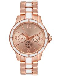 Charter Club - Rose Gold-tone & White Bracelet Watch 34mm, Created For Macy's - Lyst