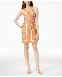 Trina Turk - California Cotton Printed Dress - Lyst