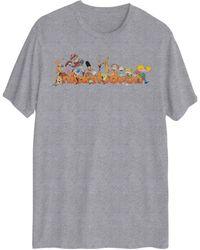 Hybrid Nick Logo Group Graphic Short Sleeves T-shirt - Grey