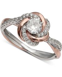 Giani Bernini - Cubic Zirconia Love Knot Ring In 18k Rose Gold Over Sterling Silver And Sterling Silver, Created For Macy's - Lyst