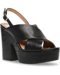DV by Dolce Vita Cypress Platform Wedge Sandals - Black