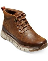 Cole Haan Zerøgrand Rugged Chukka Trainer Boots - Brown