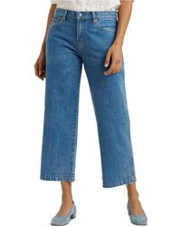 Lucky Brand Mid-rise Wide-leg Crop Jeans - Blue