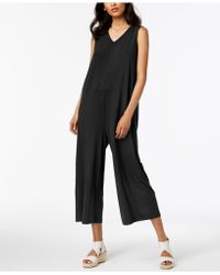Eileen Fisher - Stretch Jersey Wide-leg Jumpsuit, Regular & Petite - Lyst