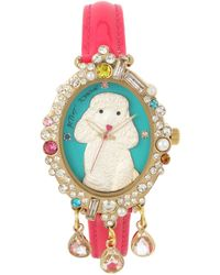 Betsey Johnson - Poodle Motif Dial Watch - Lyst