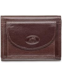 Mancini Equestrian2 Collection Rfid Secure Trifold Wallet With Coin Pocket - Brown