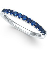 Macy's Certified Ruby Band (1/2 Ct. T.w.) In 14k White Gold (also Available In Emerald, Sapphire & White Sapphire) - Blue