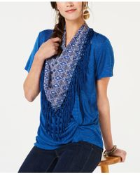 Style & Co. - Fringed-scarf Faux-knot Top, Created For Macy's - Lyst
