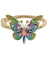 Betsey Johnson - Gold-tone Crystal & Pavé Butterfly Statement Ring - Lyst