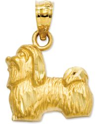 Macy's - 14k Gold Charm, Shih Tzu Charm - Lyst