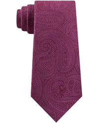 Michael Kors Rich Texture Paisley Silk Tie - Purple