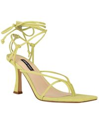 Nine West Yarin Strappy Square Toe Dress Sandals - Multicolour