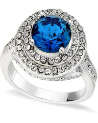 Charter Club Pavé Stone Halo Ring, Created For Macy's - Metallic
