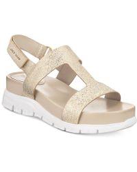 Cole Haan - Zerogrand T-strap Sandals - Lyst