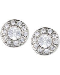 Givenchy - Small Crystal Pavé Stud Earrings - Lyst