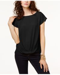 INC International Concepts - Petite Pleated-hem Top, Created For Macy's - Lyst