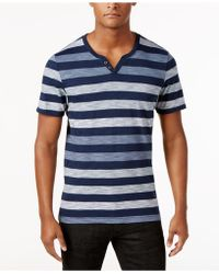 INC International Concepts - Heathered Striped T-shirt, Created For Macy's - Lyst