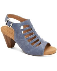 Giani Bernini Caged Caileigh Dress Sandals, Created For Macy's - Blue