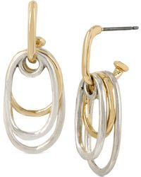 Robert Lee Morris - Two-tone Multi-oval Drop Earrings - Lyst