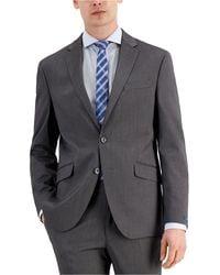 Kenneth Cole Reaction Techni-cole Light Grey Suit Separate Slim Fit Jacket